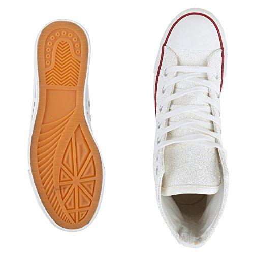 best-boots Donna Uomo scarpe da ginnastica Weiss Bianco Nuovo