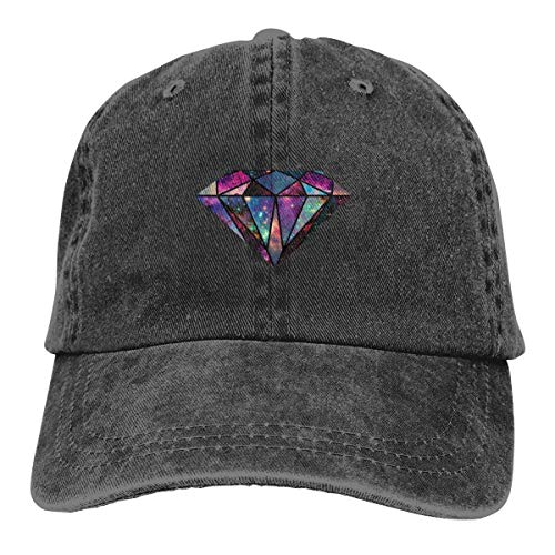 GiveUCap Adult Baseball Caps Hüte Colorful Galaxy Diamond Dad Denim Hats Washed Baseball Cap Adjustables for Men Women Diamond Trucker Hut