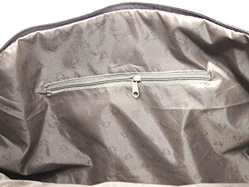 Trolley Reisetasche Gobelin-Stil Signare Handgepäck Reise Tasche Gepäck Urlaub V Fa. Bowatex (Katzenfamilie) Blume dunkel