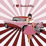 Artland Qualitätsbilder I Wandtattoo Wandsticker Wandaufkleber 50 x 50 cm Werbung Ausstellungsplakate Illustration Pink Rosa C6ZY Ich Liebe Rockabilly