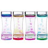 OUNONA 4pcs flüssige Sanduhr Liquid Timer Stundenglas Kinder für Zeitgefühl Sinneswahrnehmung Lernen Spielzeug Geschenk Tischdeko