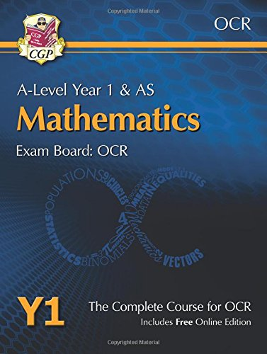 New A-Level Maths for OCR: Year 1 & AS Student Book with Online Edition (CGP A-Level Maths 2017-2018)