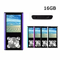 Crillutar 16GB MP3 Player MP4 Player Media Player Portable Video Player Music Player Voice Recorderwith Photo Viewer, Digital LCD Screen Supporting Games, and E-Book Reader(purple)