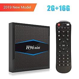 Android 7.1.2 Smart TV Box, SINUK H96 MINI 2GB RAM +16GB ROM TV Box with Amlogic S905W Quad Core Cortex A53 Processor, 4K Ultra HD TV Box, Support 2.4G / 5G Dual Wifi 100M LAN /Bluetooth /3D / 4k