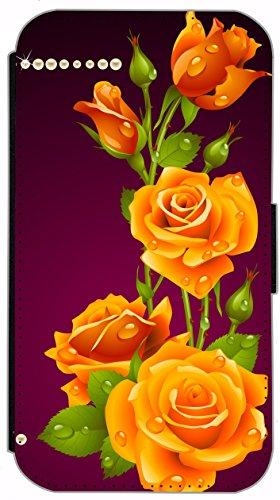 Flip Cover für Apple iPhone 5 5s Design 621 Tattoo Style Schwarz Gold Blau Hülle aus Kunst-Leder Handytasche Etui Schutzhülle Case Wallet Buchflip (621) 592