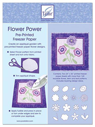 Juni Tailor Flower Power Vorbedruckte Gefrierschrank Papier