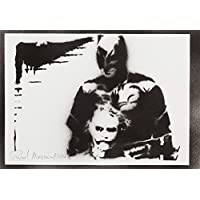Batman Und Joker Handmade Street Art - Artwork - Poster