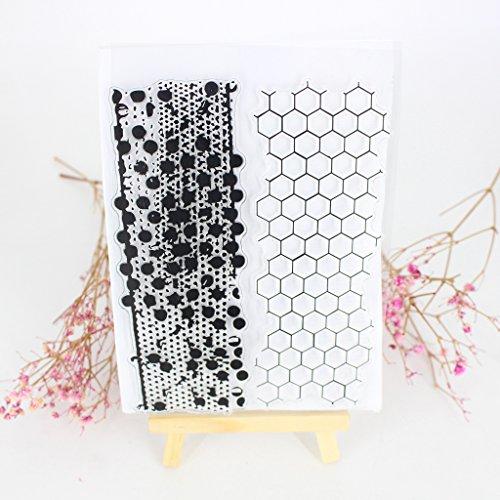 ECMQS Honeycomb DIY Transparente Briefmarke, Silikon Stempel Set, Clear Stamps, Schneiden Schablonen, Bastelei Scrapbooking-Werkzeug