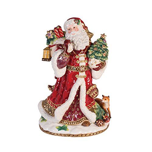 Fitz and Floyd Renaissance Holiday Dated 2017 Ornament Santa Figurine -