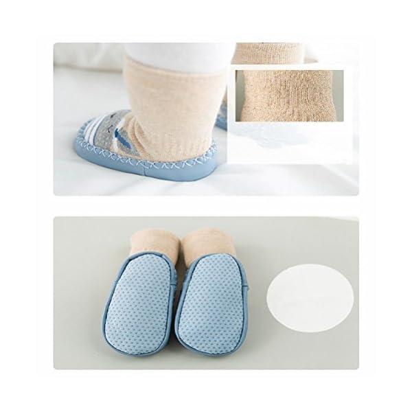 Calcetines de bebé, AMEIDD Calcetines de bebé niña niño Calcetines de algodón Antideslizantes Medias Calientes para… 3