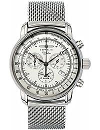 Zeppelin Herren-Armbanduhr 100 Jahre Zeppelin Analog Quarz One Size, silber, silber