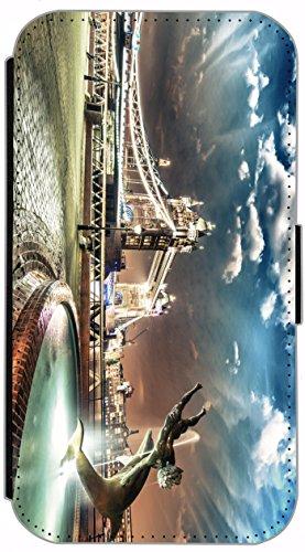 Flip Cover für Apple iPhone 6 / 6S (4,7 Zoll) Design 696 Giraffe Giraffen Hülle aus Kunst-Leder Handytasche Etui Schutzhülle Case Wallet Buchflip mit Bild (696) 682
