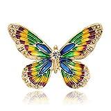 Vektenxi Premium Qualität 1X Elegant Schmetterling Brosche Frauen Corsage Kragen Revers Abzeichen Schmuck Schals Schal Clip Dame Schmuck Tasche Ornament Männer Geschenk