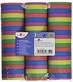 Susy Card 11226131 - Serpentinas de papel, 3 rayas, color amarillo, morado, azul, rojo y verde