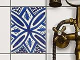 creatisto Küche Bad Fliesentattoo | Küchenfolie Küchen-Fliesen Fliesenbild Badezimmerdeko | 15x20 cm Muster Ornament Spanish Tile 7-1 Stück