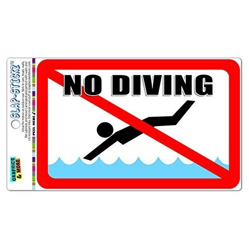 Slap-Stickz Aufkleber No Tauchen-Pool Area Premium laminiert Aufkleber Schild