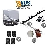Kit completo profesional VDS motor puerta corredera residencial hasta 400kg de peso con 4 mandos...