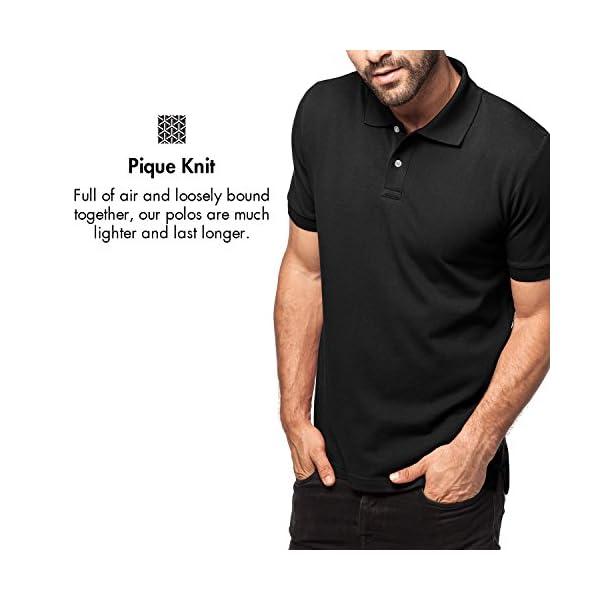adef6a0d6a8 LAPASA Polo para Hombre de Manga Corta Camiseta Casual 100% Puro Algodón (Color  Gris  ...