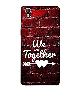 Fuson Designer Back Case Cover for Oppo A37 (We are together theme)
