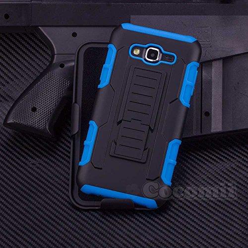 Cocomii Robot Armor Galaxy A7 Hülle NEU [Strapazierfähig] Erstklassig Gürtelclip Ständer Stoßfest Gehäuse [Militärisch Verteidiger] Ganzkörper Case Schutzhülle for Samsung Galaxy A7 (R.Blue) A700 Cell Phone