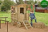 Kinderspielhaus 4 Wagen - Abmessungen: 156 x 90 cm