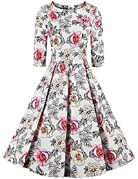 E-Girl M130918D Robe de bal Vintage pin-up 50's Rockabilly robe de soirée cocktail,S-XXXXL