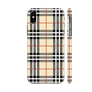 official photos 7c74d ba22c Colorpur iPhone X Cover - Burberry Style Tile Pattern: Amazon.in ...