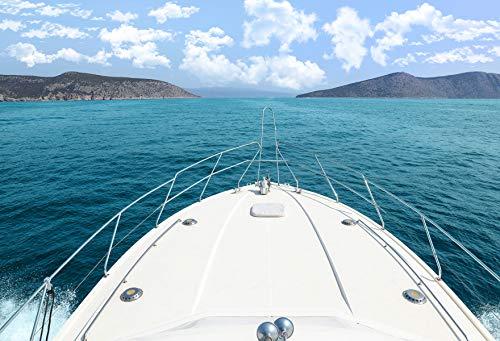 Kate Blue Sea Foto Kulisse Kreuzfahrtschiff Studio Fotografie Hintergründe Microfaser Seamless Photo Booth für Urlaub Party Fotografie 10x6.5ft / 3x2m
