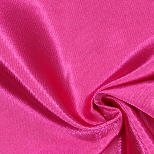 Fabulous Fabrics Brautsatin Deluxe - hot pink - Meterware ab 0,5m - zum Nähen von Kissen, Tischdecken und Bettwäsche (Tischdecke Pink Hot)