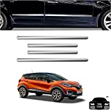 #5: Car Bumper Scratch Guard Chrome | Car Side Beading Chrome for Renault Captur (Free Gift)
