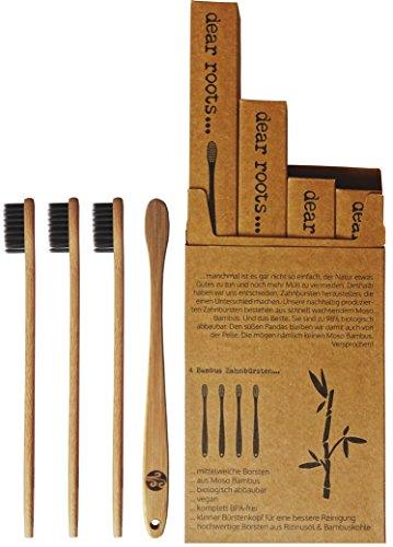 Bambus Zahnbürste Aktivkohle BPA Frei