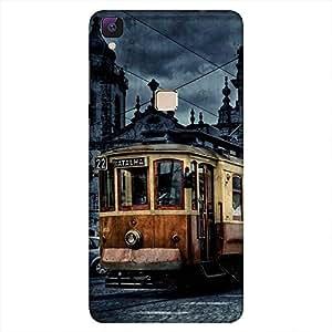 Mobo Monkey Designer Printed Back Case Cover for Vivo V3 (Bus :: Landmark :: Architecture :: Famous :: Cities)