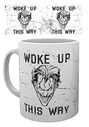 Batman Comics empireposter Joker Woke up This Way - Tamaño (cm), Aprox. 9,5 - Tazas de Licencia, Nuevo - Descripción: - Taza (cerámica, Color Blanco, Estampado, Capacidad 320 ml, Producto Oficial.