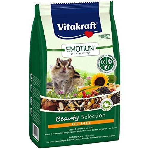 Vitakraft Emotion Beauty All Ages, Streifenhörnchen - 600g (Mischung 15 G-packung)