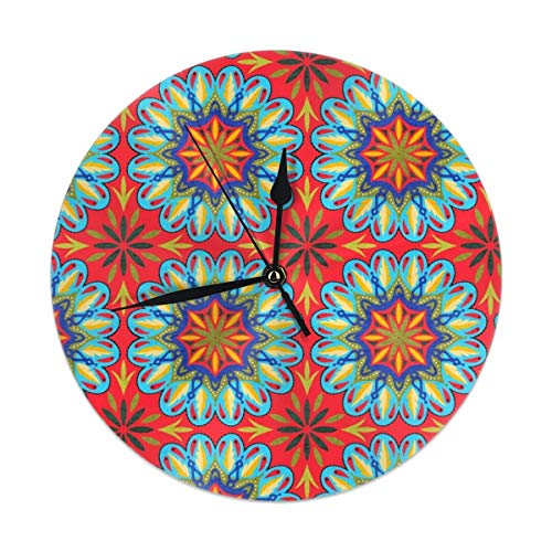 Miedhki - Orologio da Parete al Quarzo, Silenzioso e Senza ticchettio, in PVC, per casa, Ufficio, Scuola, 24,9 cm