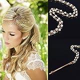 Donna Fermaglio Per Capelli goccia imitazione collana di perle accessori per capelli, Sposa Gioielli, forcine per capelli Spiralen nappe Fermaglio Per Capelli Capelli Testa gioielli, oro bianco