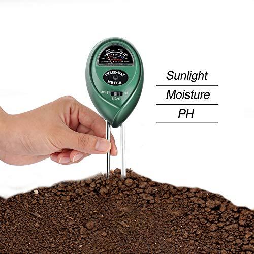 UMSKY Medidor de Humedad Plantas Multifuncional Kit de Test Para Acidez de Suelos Tierra, Para Medir el PH y la Humedad, Para Casa y Jardín