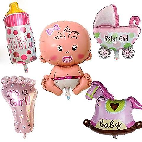 Kit 5x Ballon Ballon gonflable naissance fille fille fillette fête Baby Shower