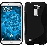 Funda de silicona para LG K10 - S-Style negro - Cover PhoneNatic Cubierta Case
