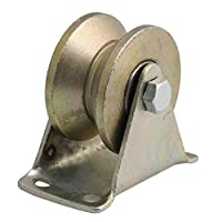 Yibuy 300kg Capacity 45# Steel Groove Rigid Caster Wheel with Steel Bearing