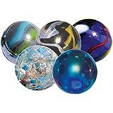 Set of 10 Giant (35mm) Designer Marbles in a Bag (5 designs)