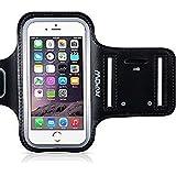 """Mpow Brassard iPhone 6/ 6s 4,7"""" Sports Sweatproof Etui Armband Case pour le Jogging/ Gym/ Sport, Confortable avec sangle réglable, Noir"""
