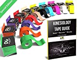 Physix Gear Sport Kinesiology Tape - Free Illustrated E-Guide - 5cm x 5m Uncut Roll - Best Pain Relief Adhesive for Muscles, Shin Splints Knee & Shoulder - 24/7 Waterproof Therapeutic Aid (1PK GRN)