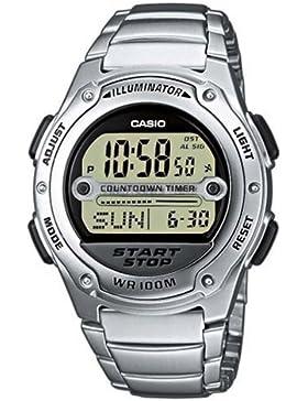 Casio Collection – Herren-Armbanduhr mit Digital-Display und Edelstahlarmband – W-756D-7AVES