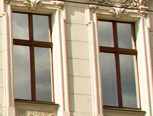 Premium Sonnenschutzfolie verspiegelt, Spiegelfolie Fenster, 8 x 0,76m