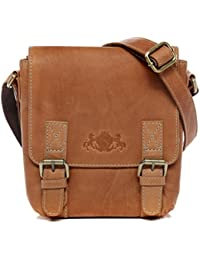 SID   VAIN Real Leather Messenger Bag KERBY Small Shoulder Courier Bag  Cross-Body Bag 077780cf24287