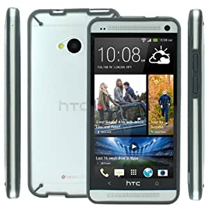 Poetic Atmosphere Case for HTC One M7 Clear/Gray (3 Year Manufacturer Warranty From Poetic)