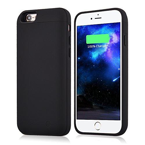 Muze Coque avec batterie rechargeable pour iPhone 6/6S 5000 mAh 4,7 pouces noir
