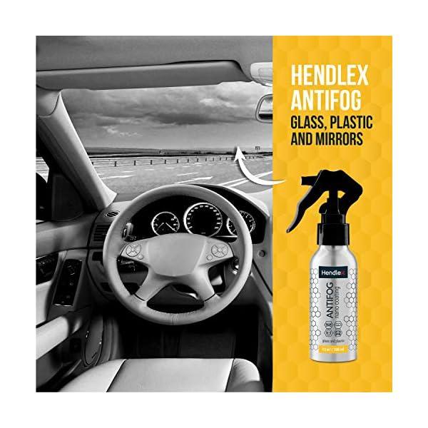 Hendlex Anti Niebla Spray Antivaho Espejo Baño Coche Ventana 100ml | Universal Antiniebla con Kit De Limpieza para Moto…