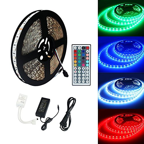 ALED LIGHT 10M 5050 RGB 600 LED-Kamera-LED-Farbe mit LED con 44 IR remoto + 24V 3.5A AC EU-Stecker-Adapter-Lampe für Beleuchtung mit LED-Licht und LED-Hintergrundbeleuchtung